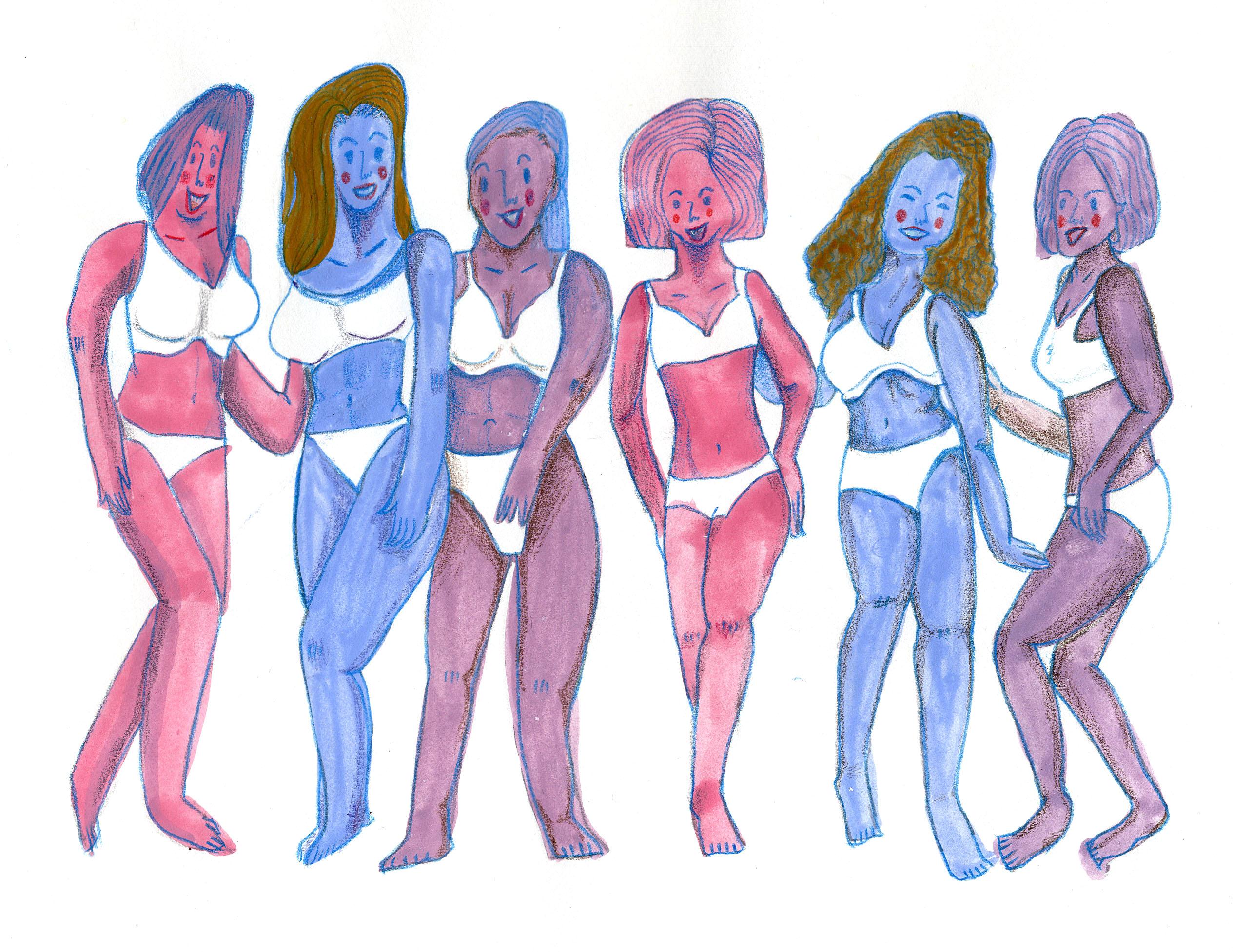 Real beauty, women, illustration